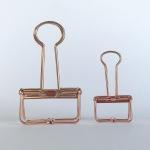 Rose Gold Binder Clip