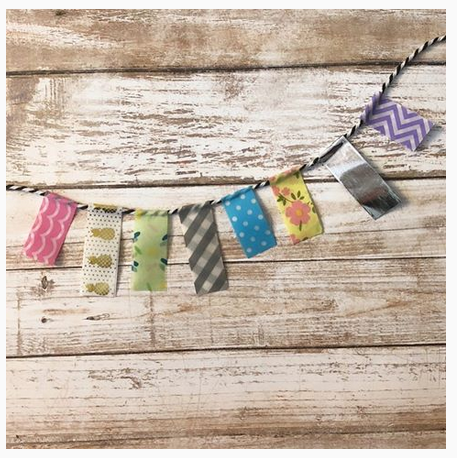 Banner Made with Washi Tape