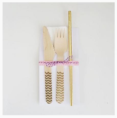 Washi Tape on Cutlery