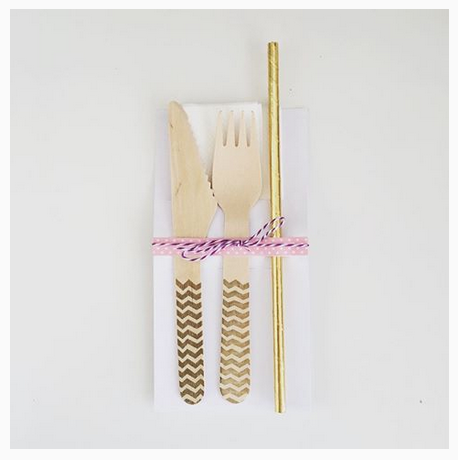Washi Tape on Cutlery