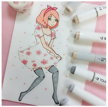 Drawing with Washi Tape