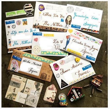 Washi Tape on Envelopes