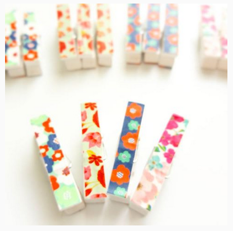 Washi Tape Pegs