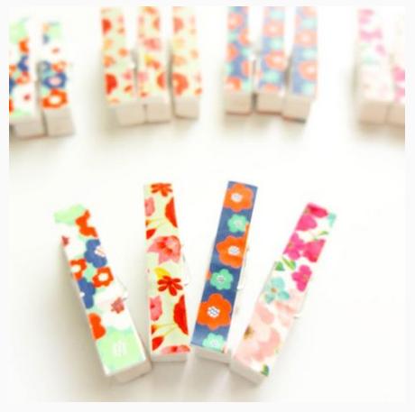 Washi Tape Pegs