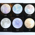 Planet sticky notes mercury earth rainbow moon black moon pluto and mars galaxy and universe