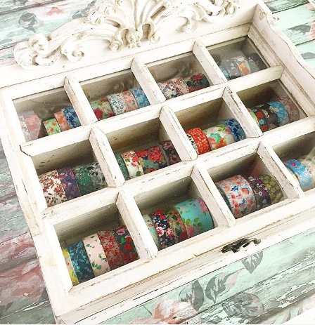 Washi Wooden Box