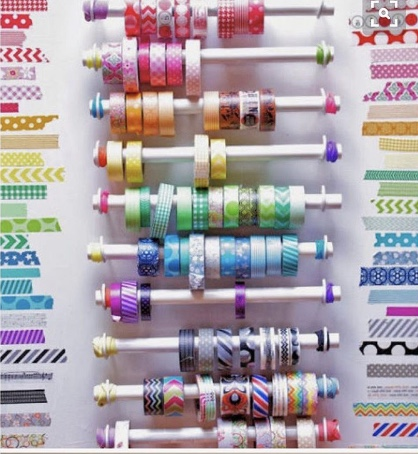 Rods with Washi Swatches