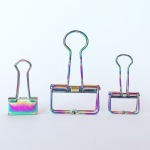 Rainbow hollow binder clips