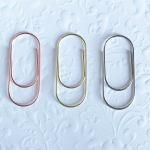 Gold silver and rose gold wide paperclips