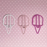 White and pink ice cream paperclips