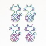 Rainbow cat paperclips