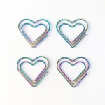 Rainbow heart paperclips