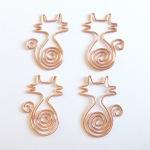 Rose gold cat paperclips