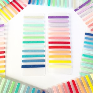 Rainbow brights and pastels washi tape samples