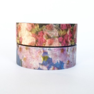 Red and purple floral washi tape