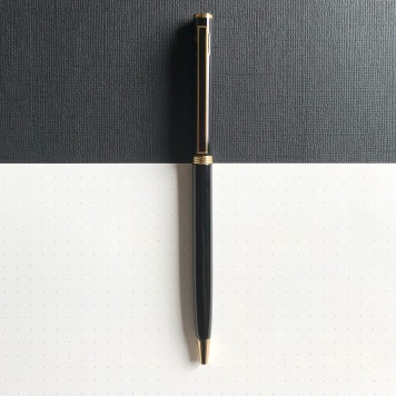 Black and Gold Ballpoint Pen